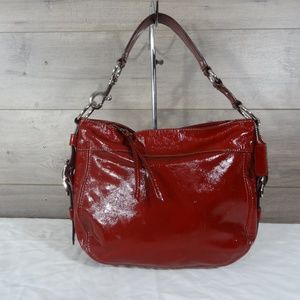 Coach F12735 Red Patent Zoe Leather Hobo